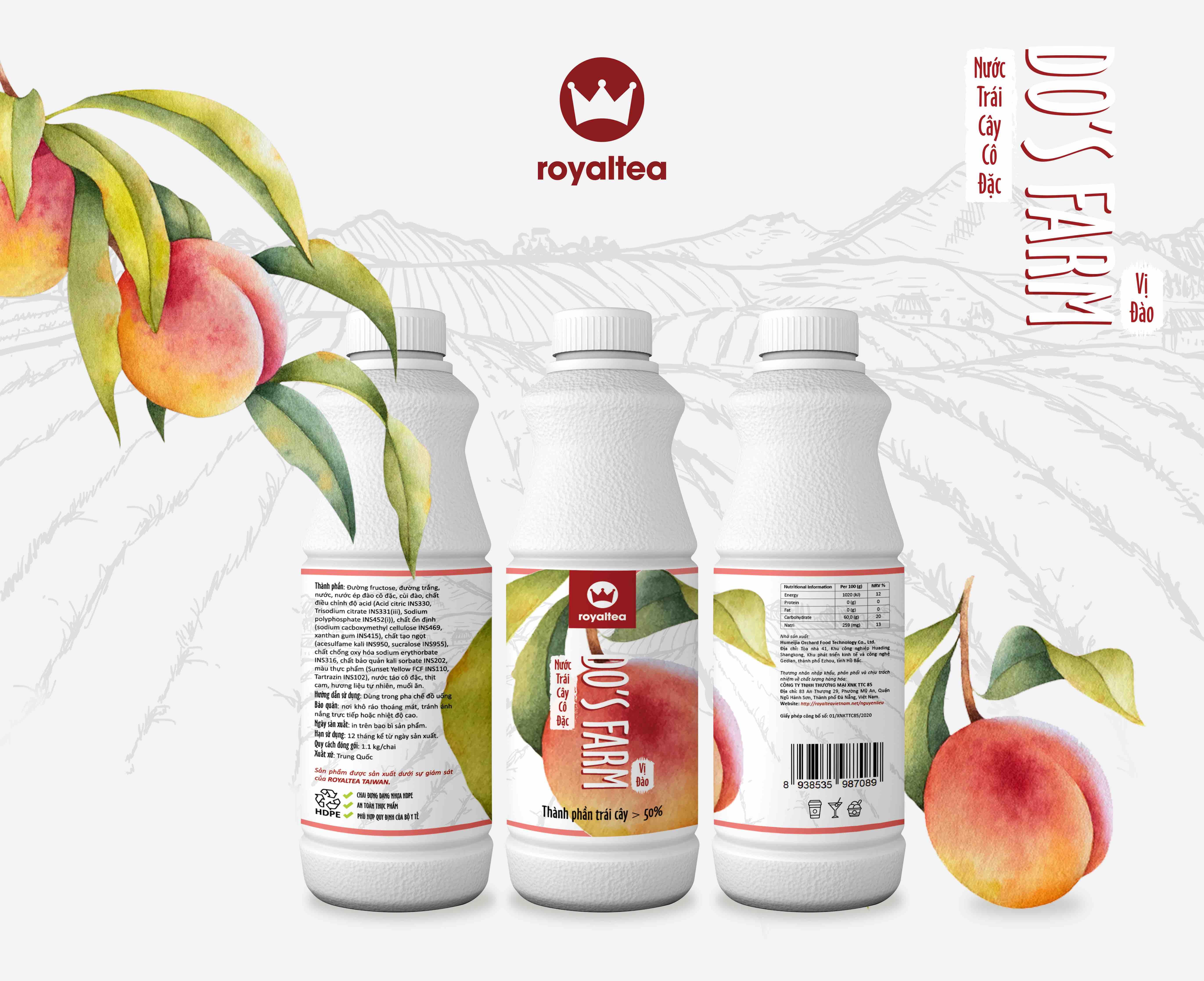 Nước trái cây cô đặc – vị  đào – 190.000 VNĐ