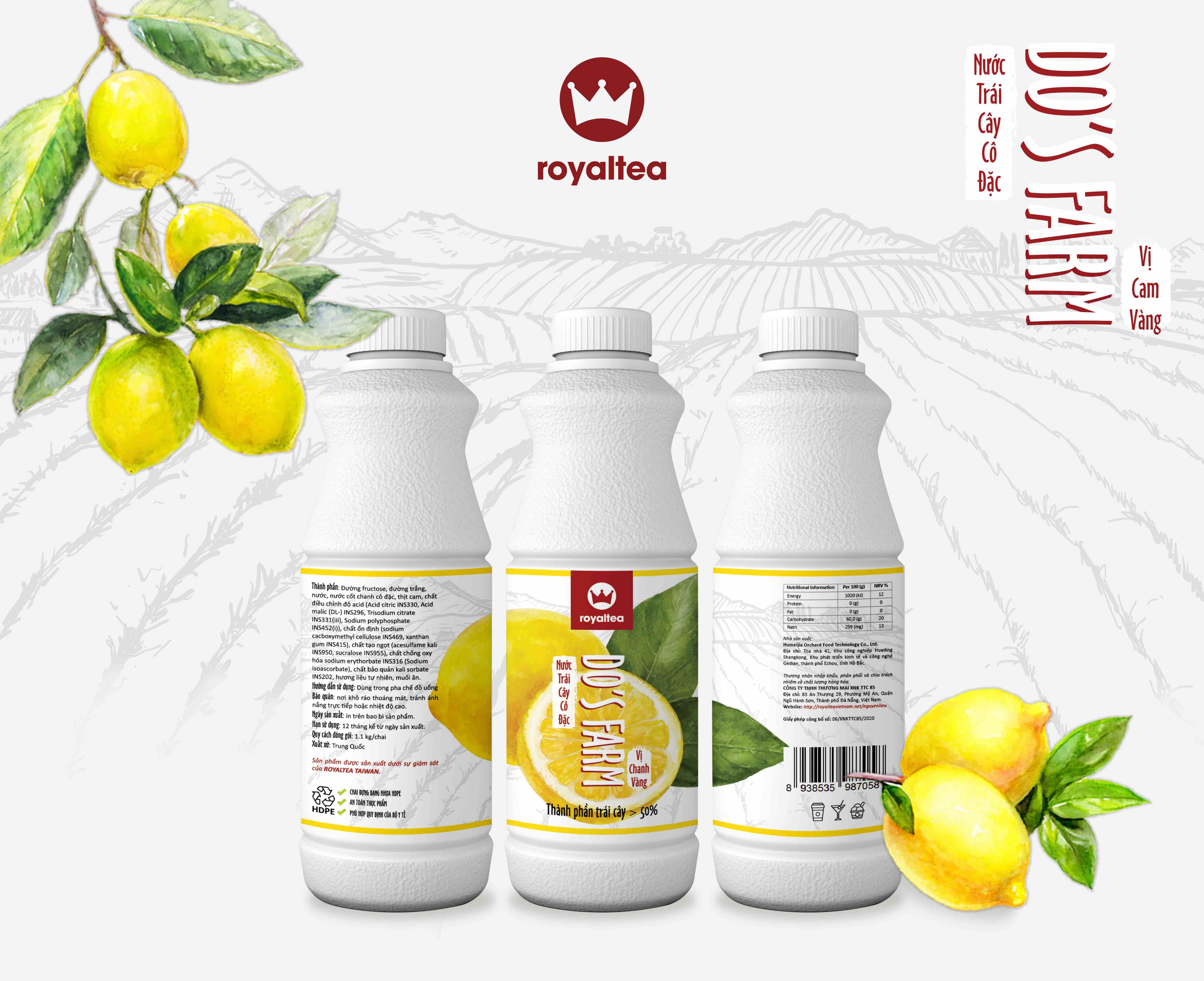 Nước trái cây cô đặc – vị  chanh – 190.000 VNĐ