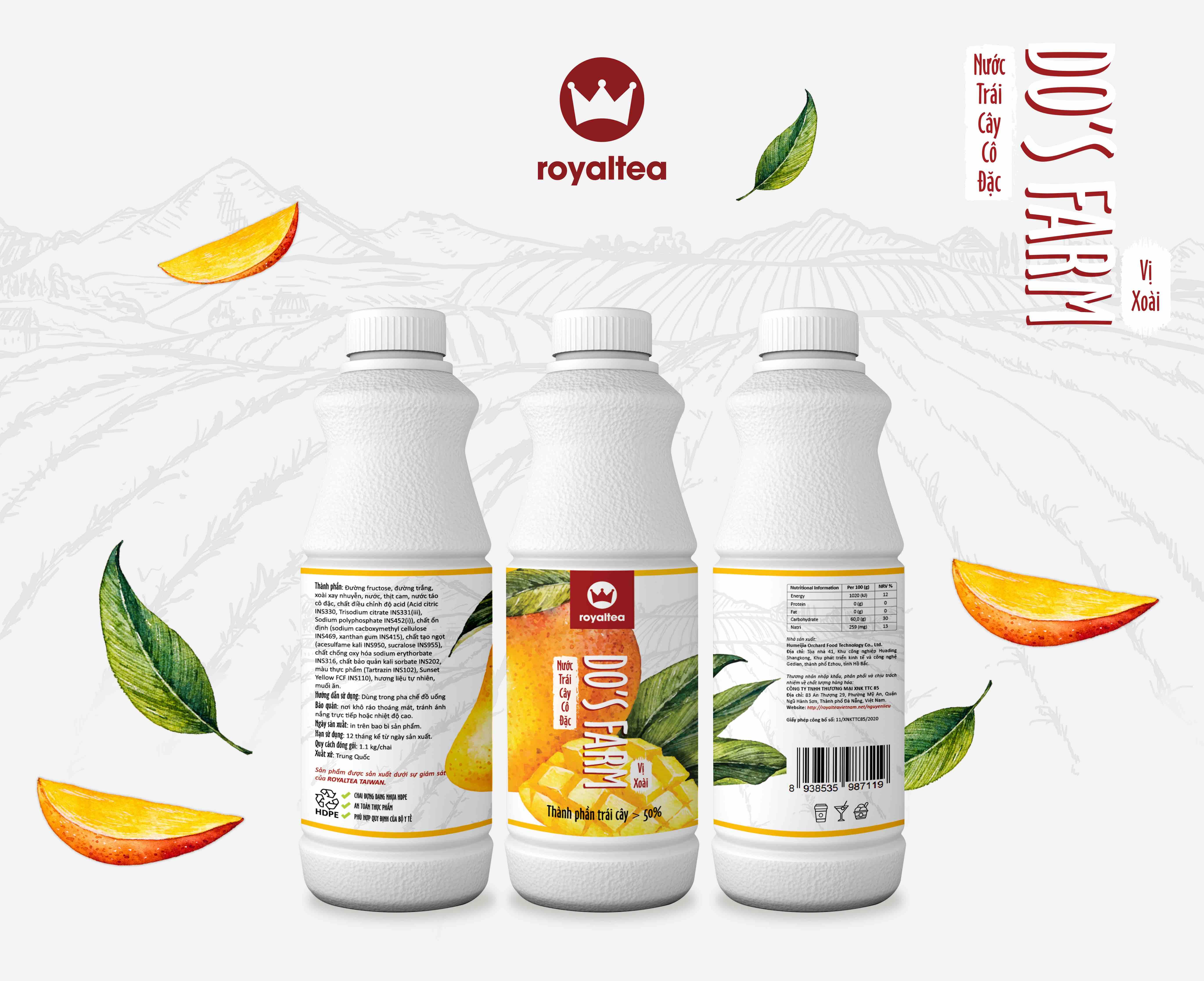 Nước trái cây cô đặc – vị xoài – 190.000 VNĐ