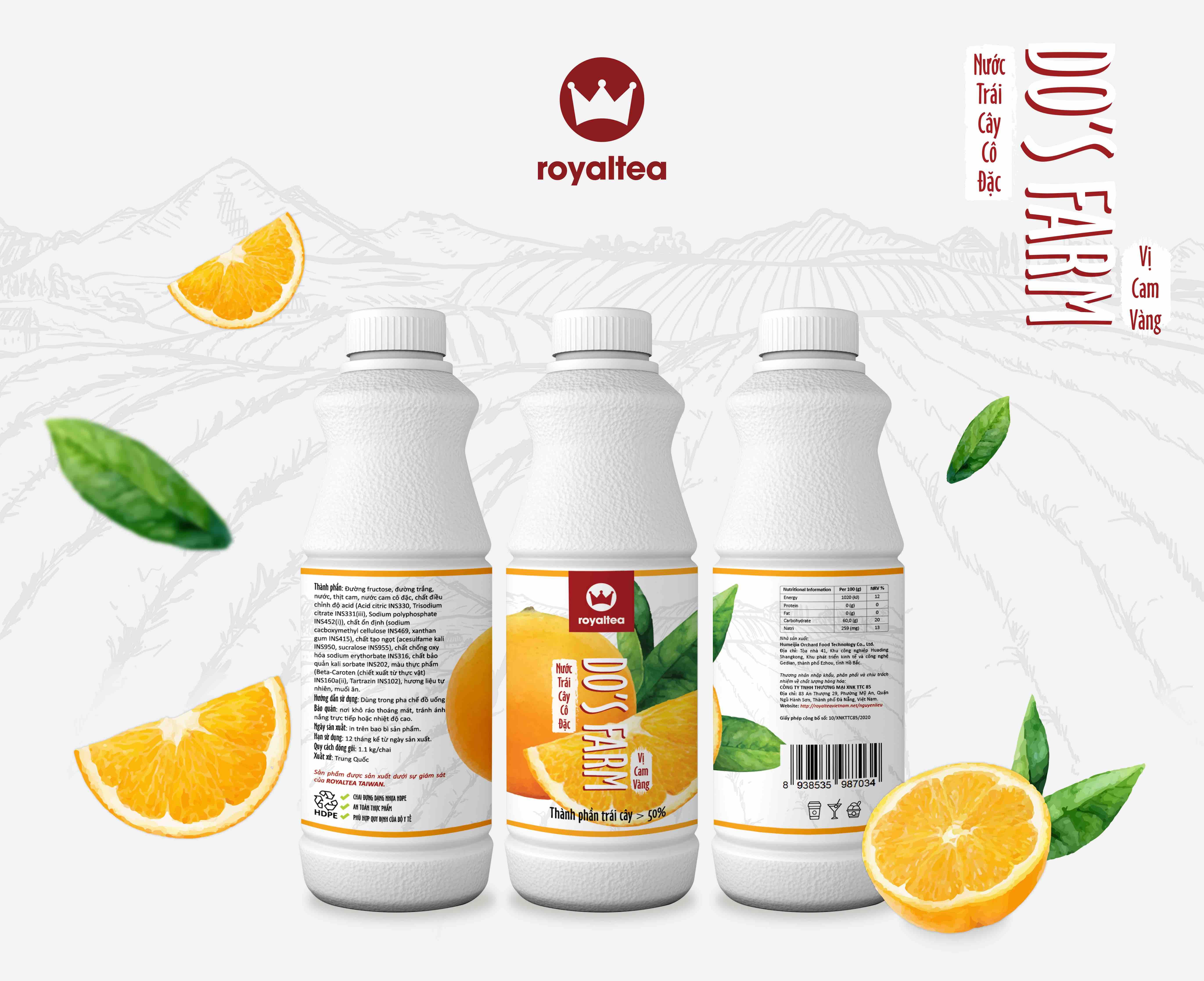 Nước trái cây cô đặc – vị cam 190.000 VNĐ