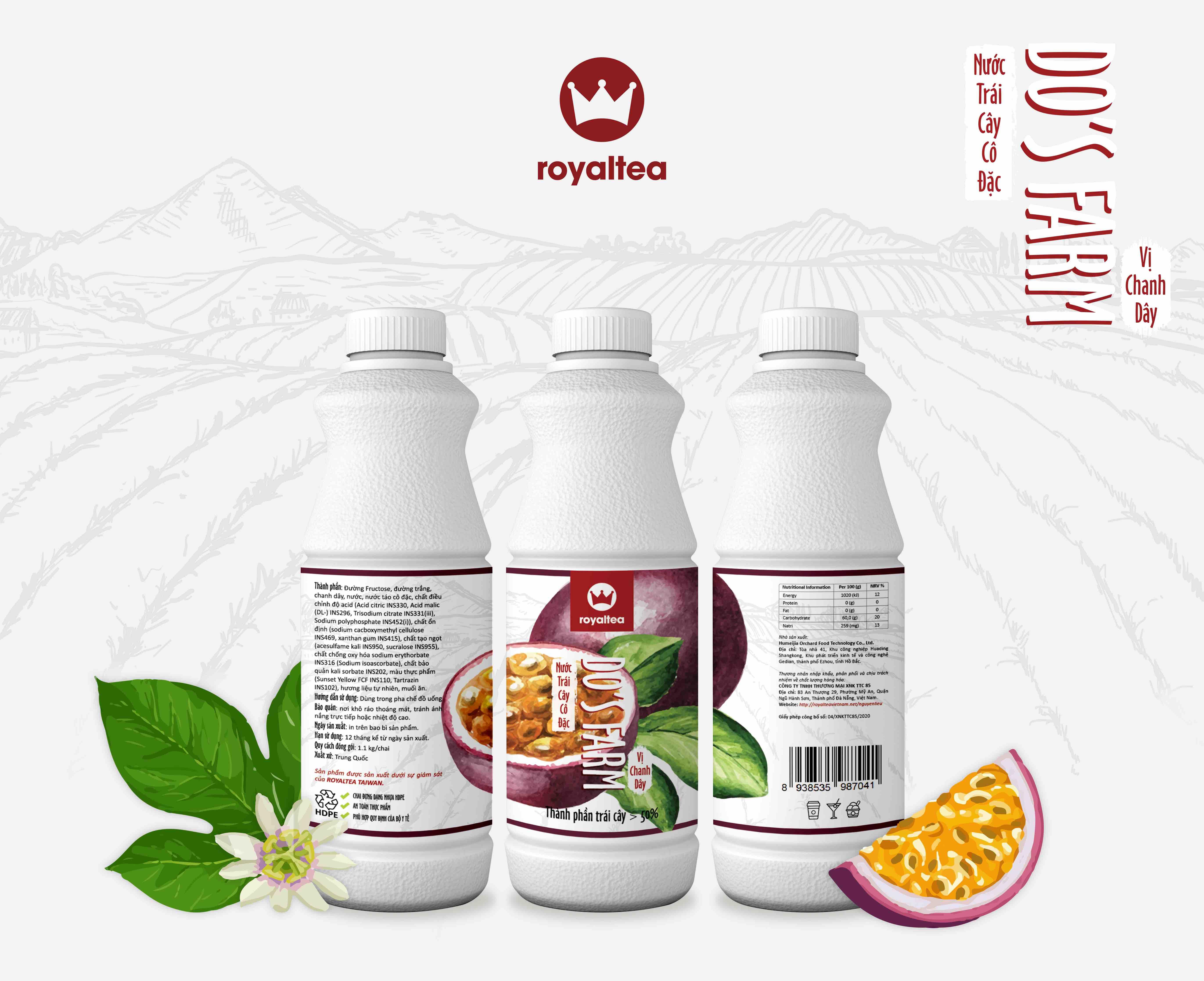 Nước trái cây cô đặc – vị  chanh dây – 190.000 VNĐ