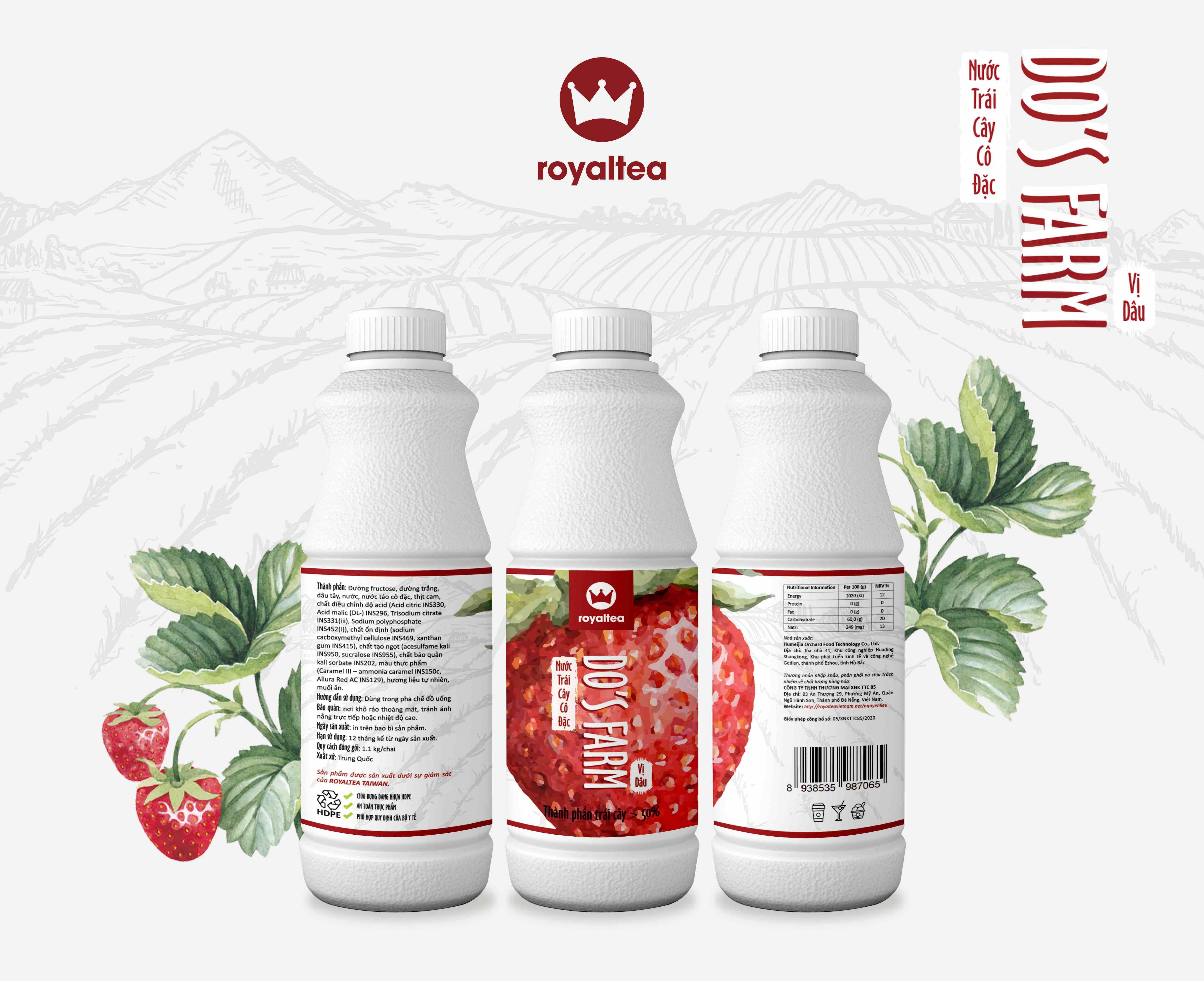 Nước trái cây cô đặc – vị dâu – 190.000 VNĐ