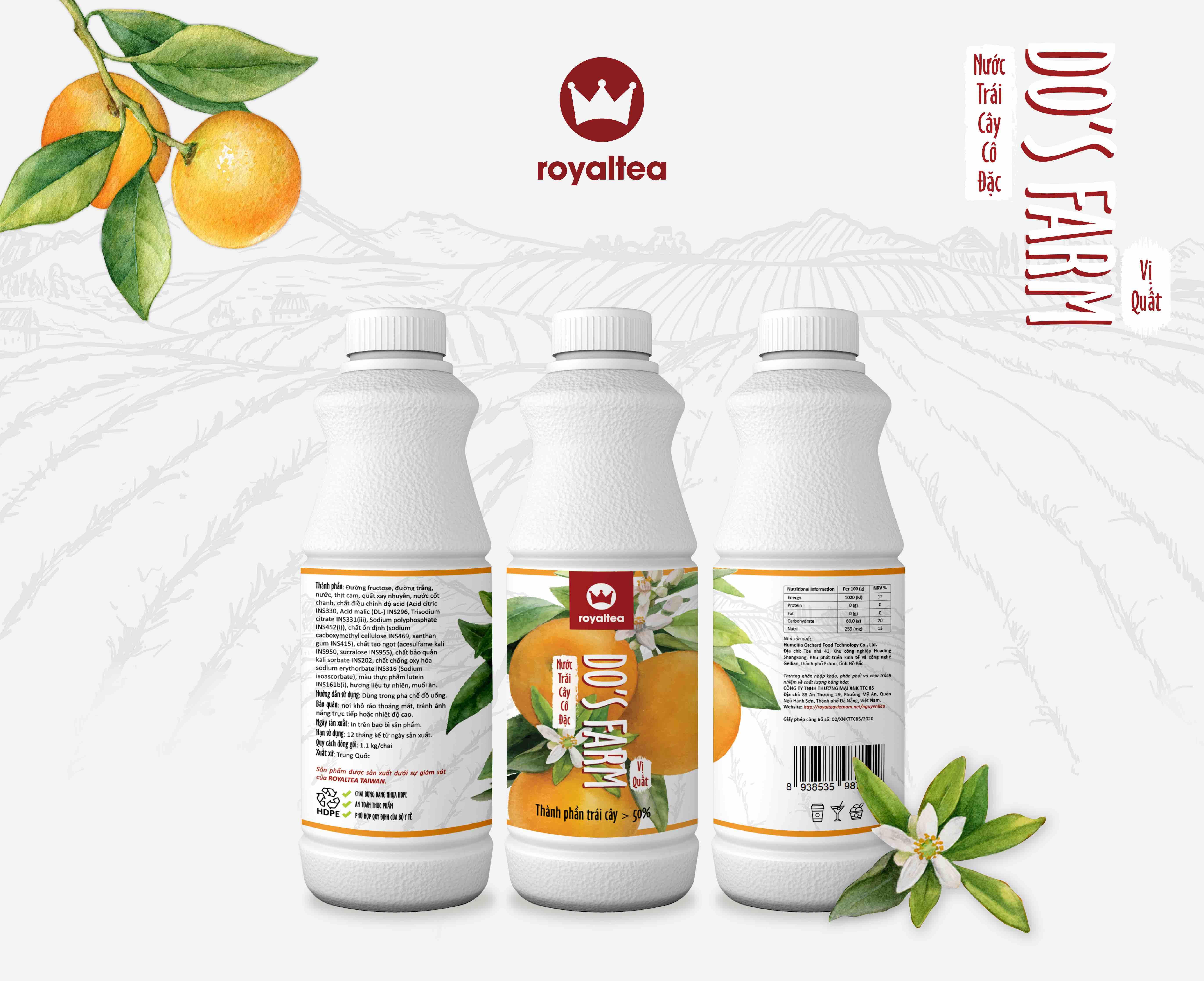 Nước trái cây cô đặc – vị quất – 190.000 VNĐ